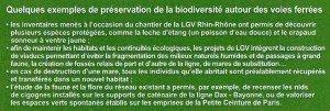détail de quelques réalisations biodiversité et réseau ferroviaire